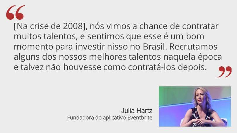 Julia Hartz Fundadora do App Eventbrite
