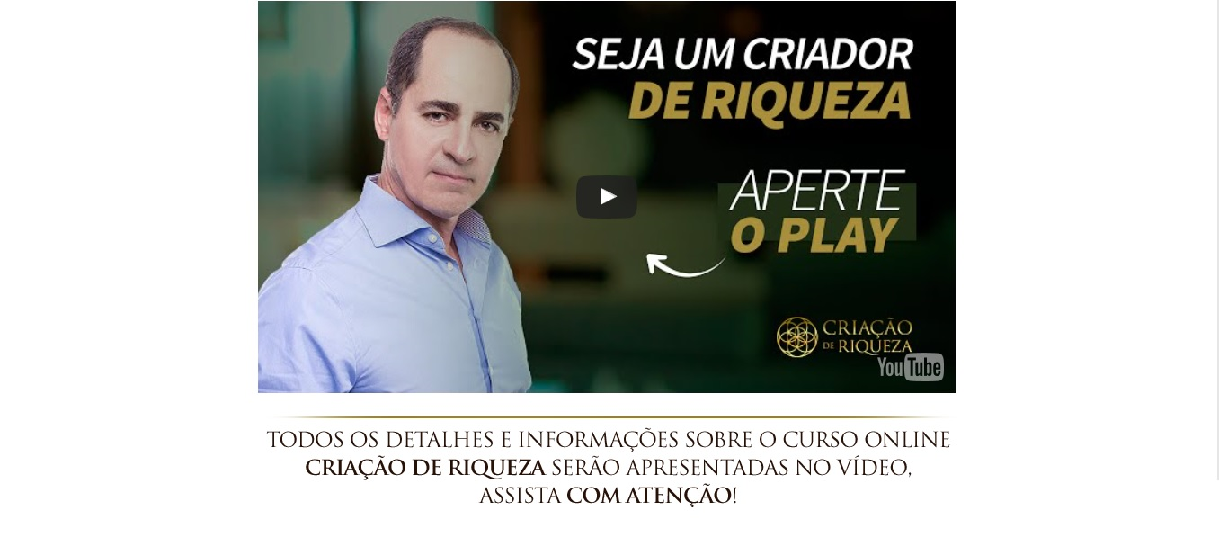Video do Curso Criação de Riqueza