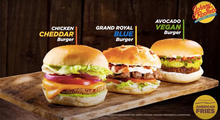 Novos hambúrgueres Johnny Rockets Brasil